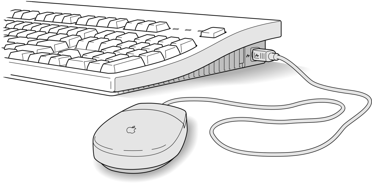 Computer Keyboard Mouse Practice Icons Diagram Part In This Pointer