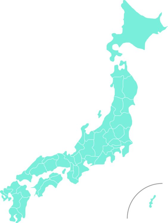 Prefectures of Japan Blank map Vector Map free commercial clipart ...