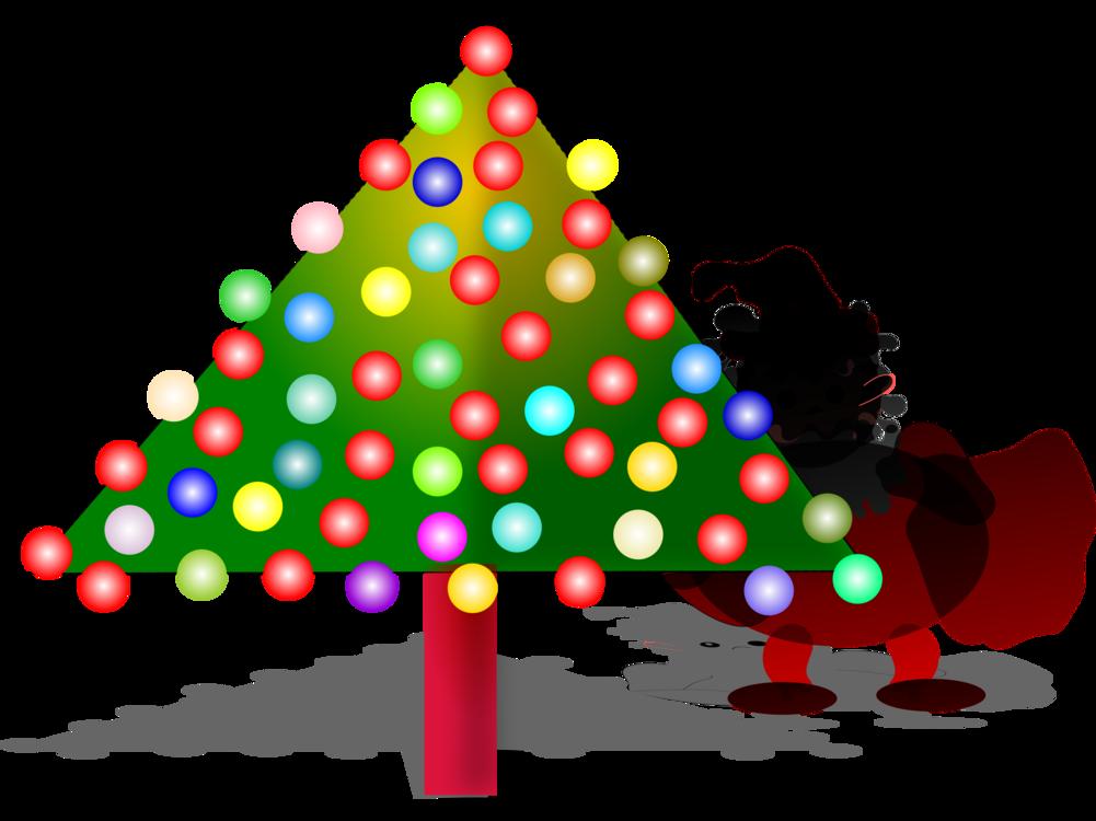 Christmas tree Christmas Day Santa Claus Christmas ornament free ...