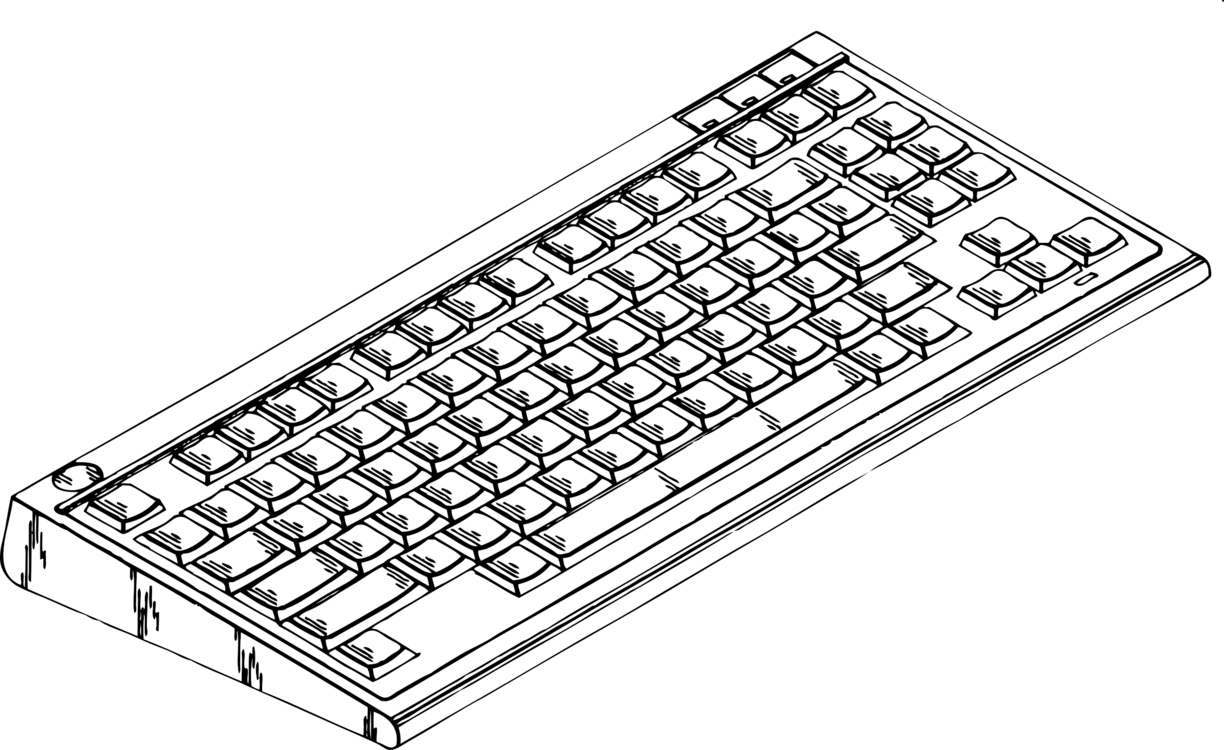 Computer keyboard Computer mouse Colouring Pages Coloring book ...