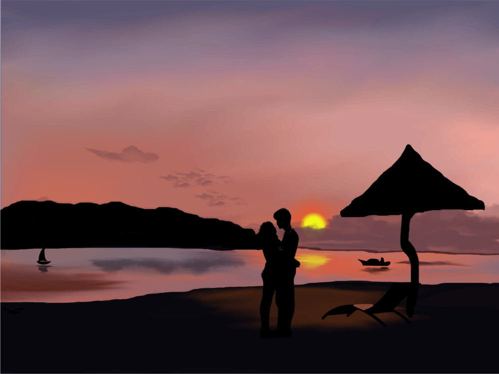 Evening,Silhouette,Horizon