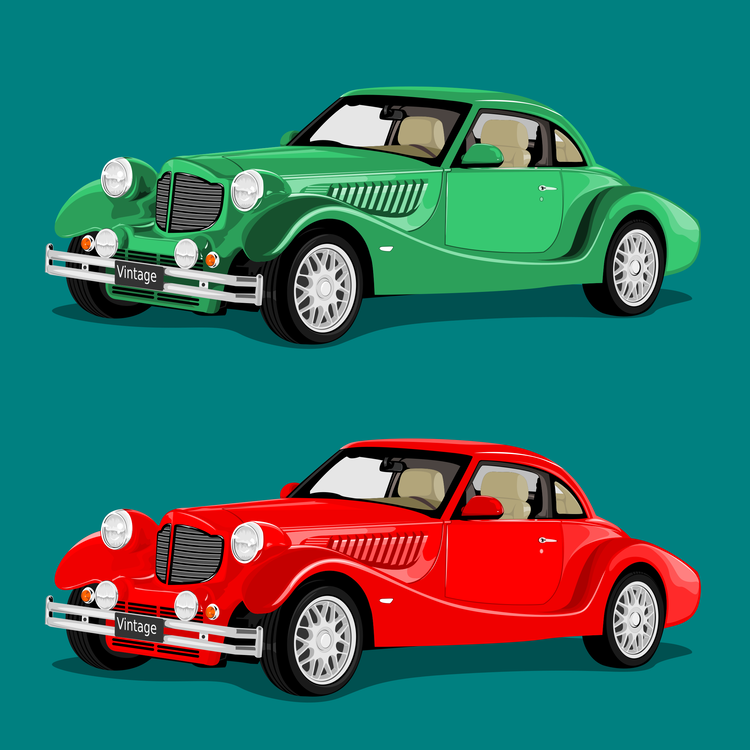 Pink,Classic Car,Compact Car