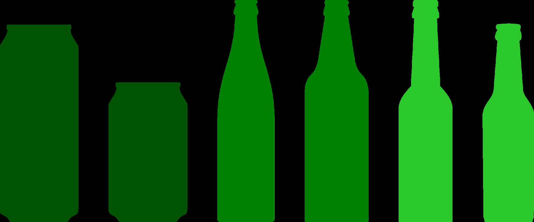 Beer Bottle,Glass Bottle,Green