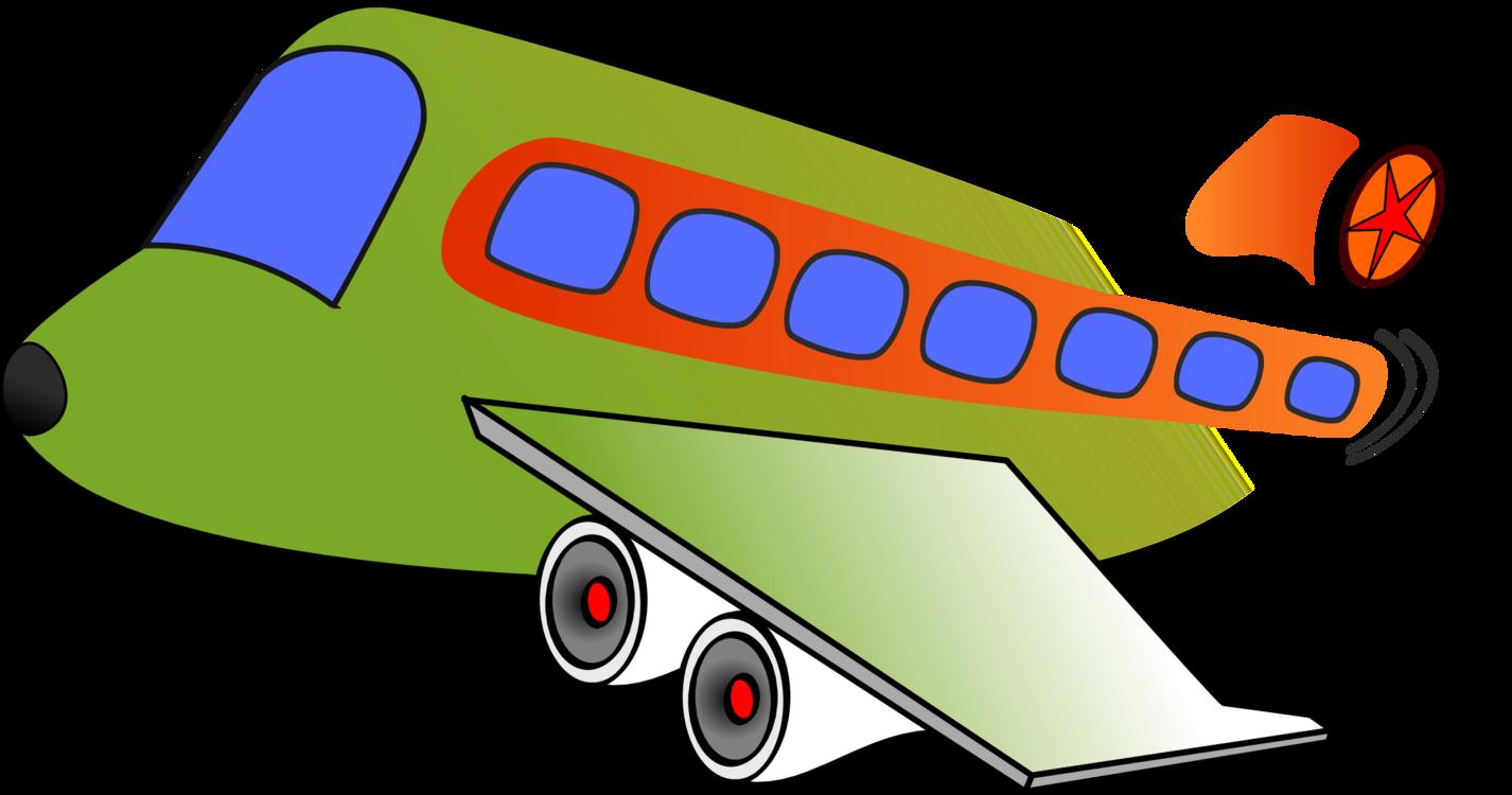 Airplane Air Transportation Clip Art: Transportation