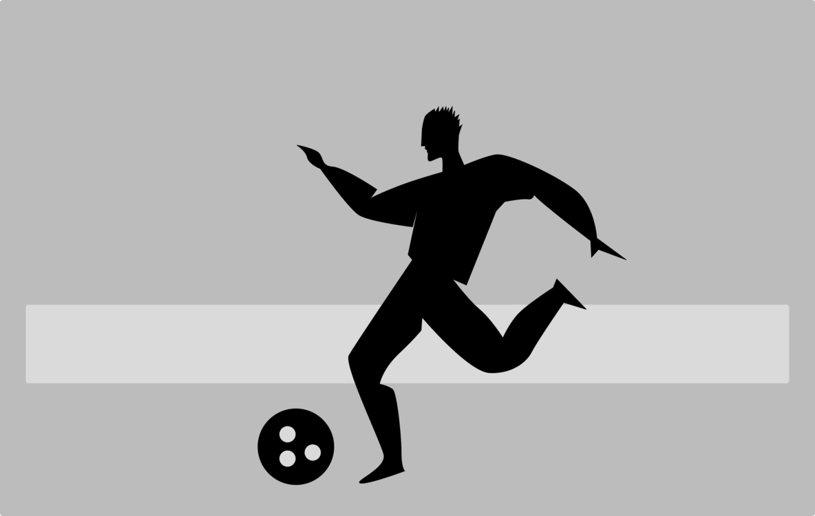 Silhouette Football player Drawing Logo