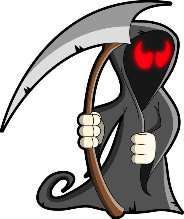 Death Sticker Grim Halloween Decal