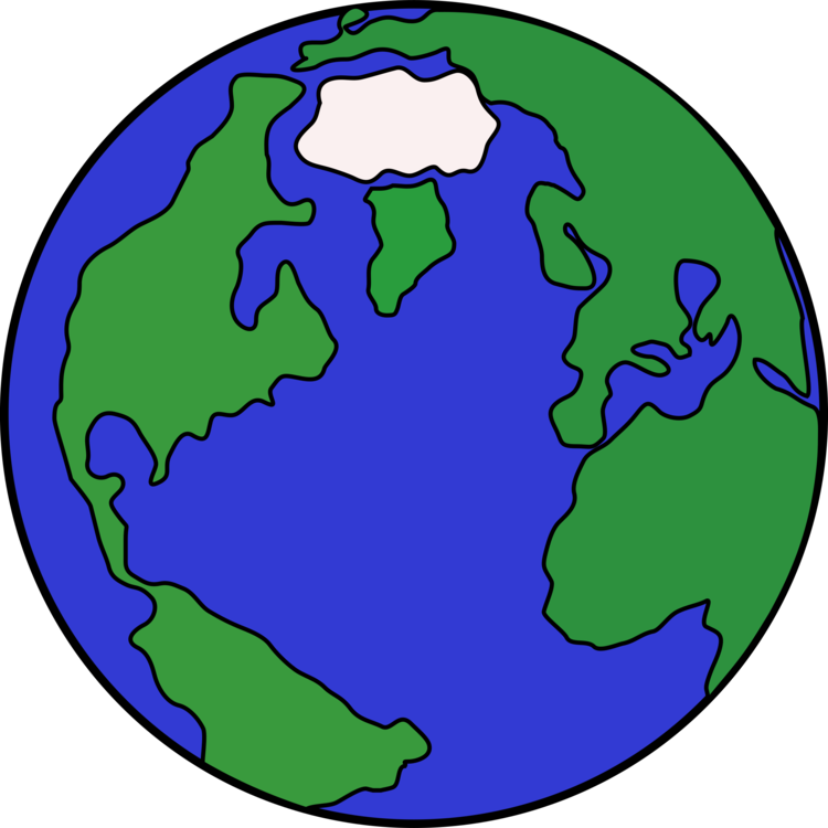 globe earth cartoon drawing planet free commercial clipart globe