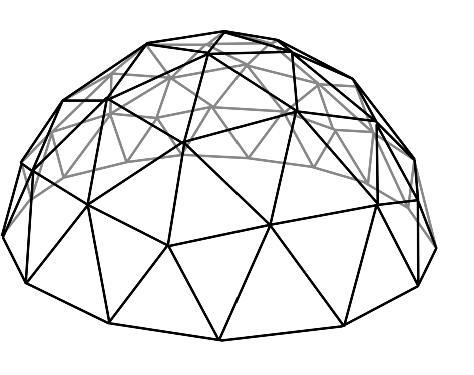 Geodesic Dome Drawing Jungle Gym Free Commercial Clipart