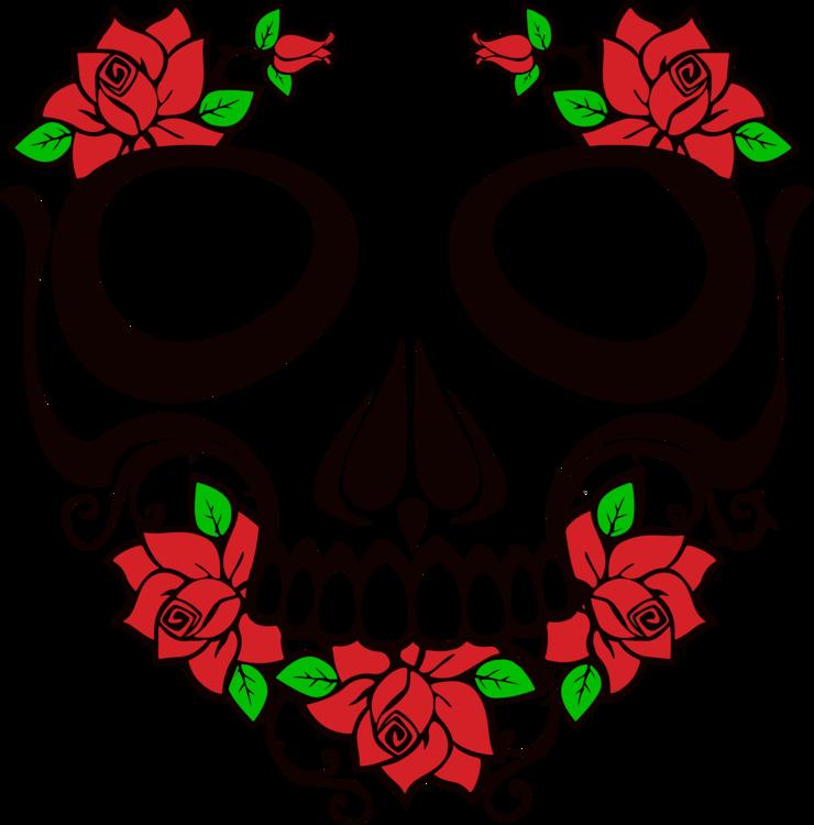 Calavera Human skull symbolism Rose Human skeleton