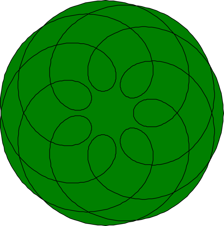 Symmetry Green Circle Point Leaf