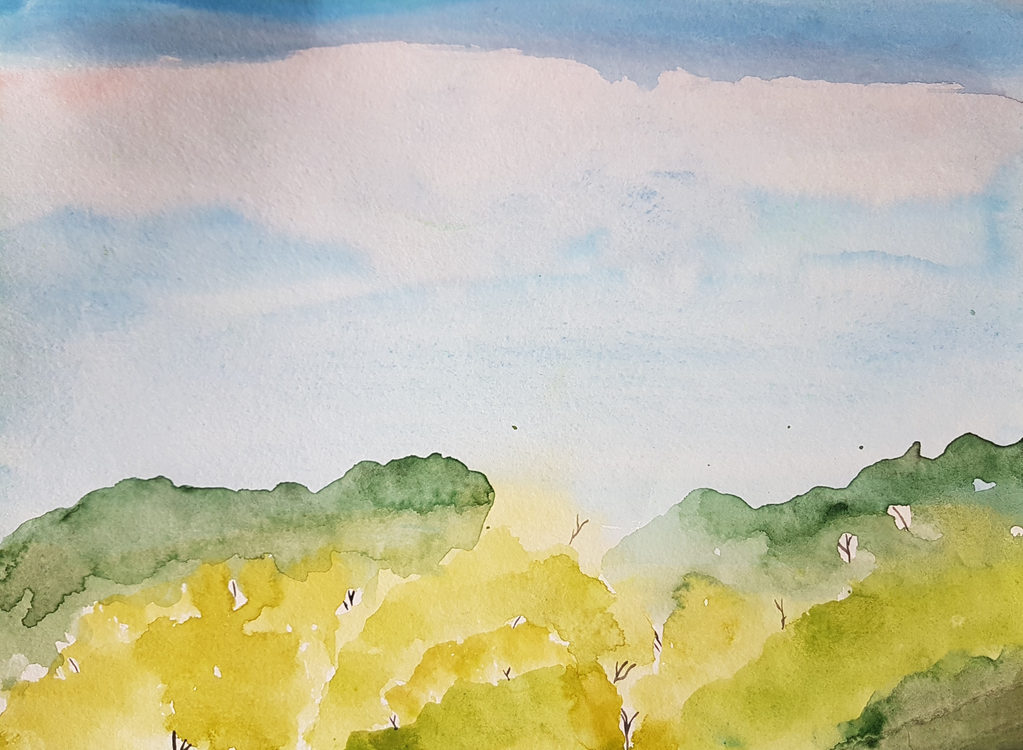 Watercolor Paint,Sky,Yellow