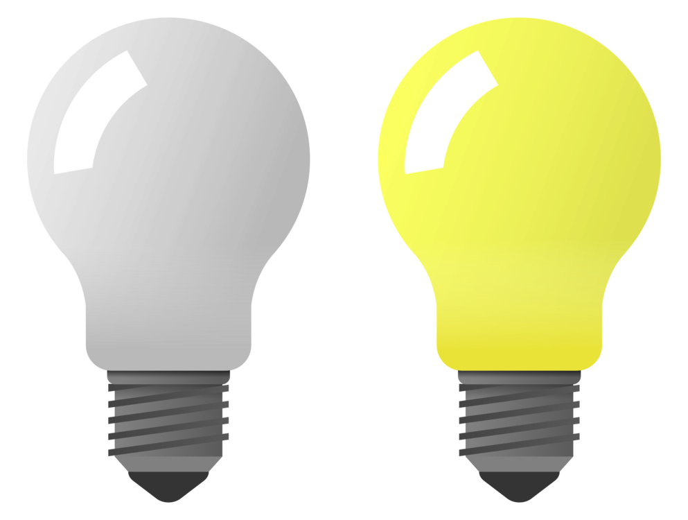 Yellow,Light,Incandescent Light Bulb