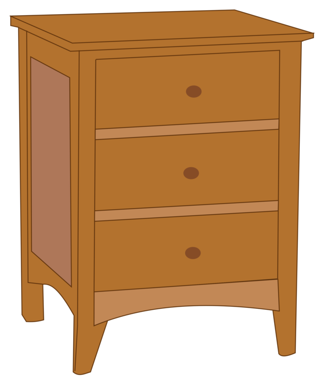 Bedside table clipart  Bedside Tables Chest of drawers Furniture free commercial clipart ...