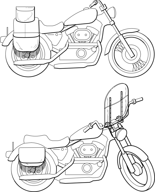 Car Motorcycle Motor Vehicle Windshield Free Commercial Clipart