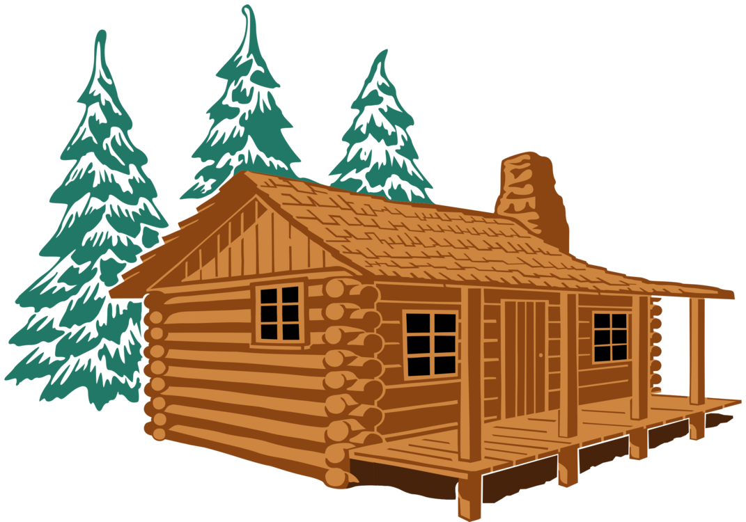 Log Cabin House Cottage Rustic Cartoon