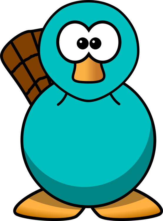 perry the platypus cartoon beaver drawing free commercial clipart