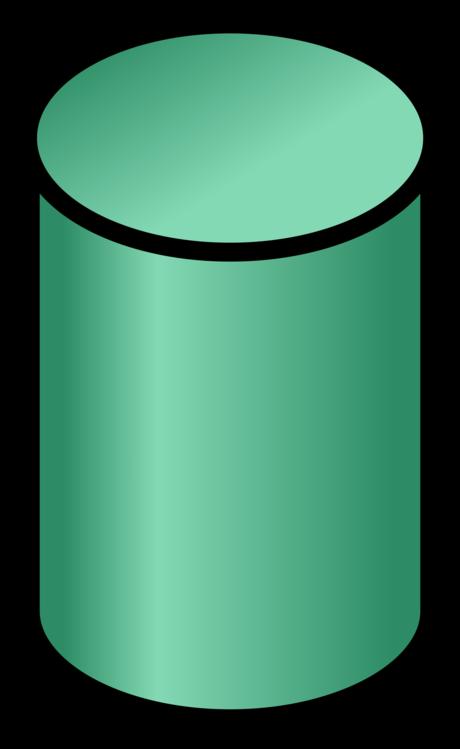 Cylinder,Green,Line