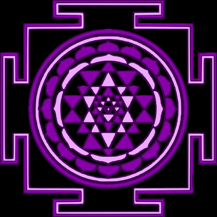 Mandala Sri Yantra Coloring book Lakshmi CC0 - Symmetry,Area,Purple