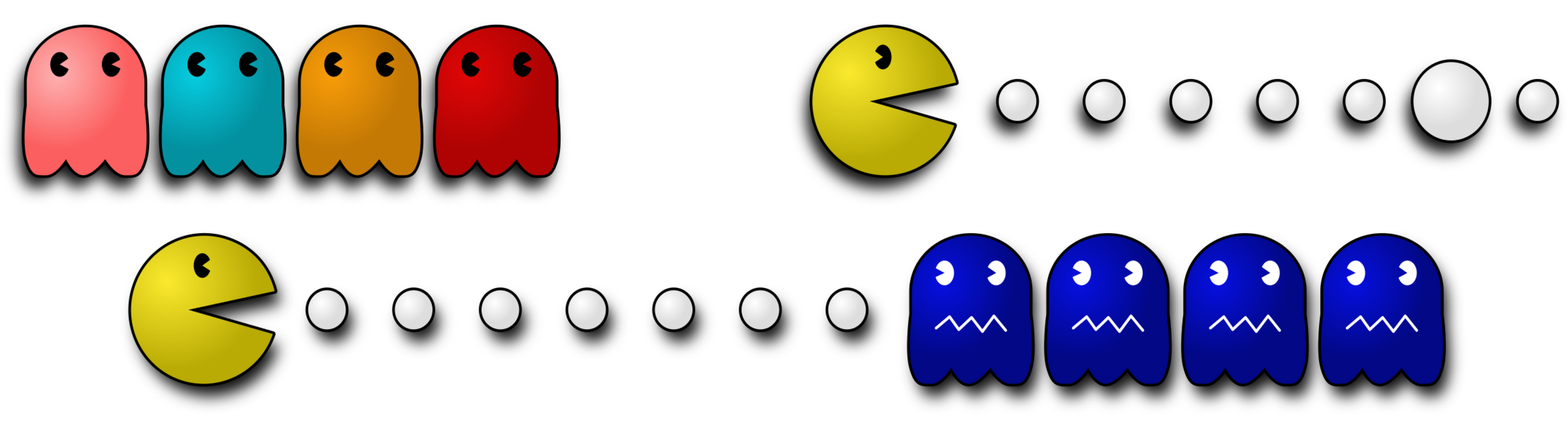 Ms  Pac-Man Pac-Man 2: The New Adventures Pac-Man World Ghosts CC0