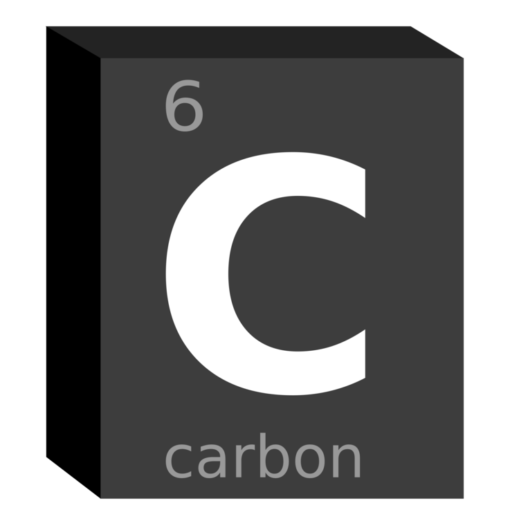 Carbon Chemical Element Symbol Block Chemistry Free Commercial