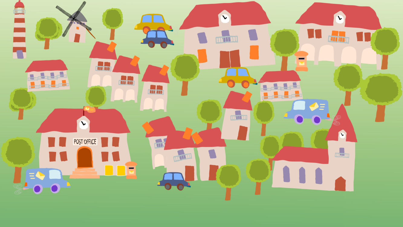 Village Cartoon House Child Art Free Commercial Clipart Buildings