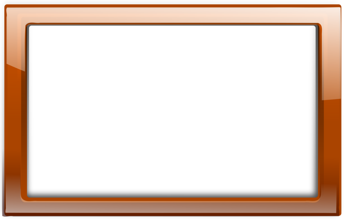 Picture Frames Orange Brown free commercial clipart - Picture Frames ...