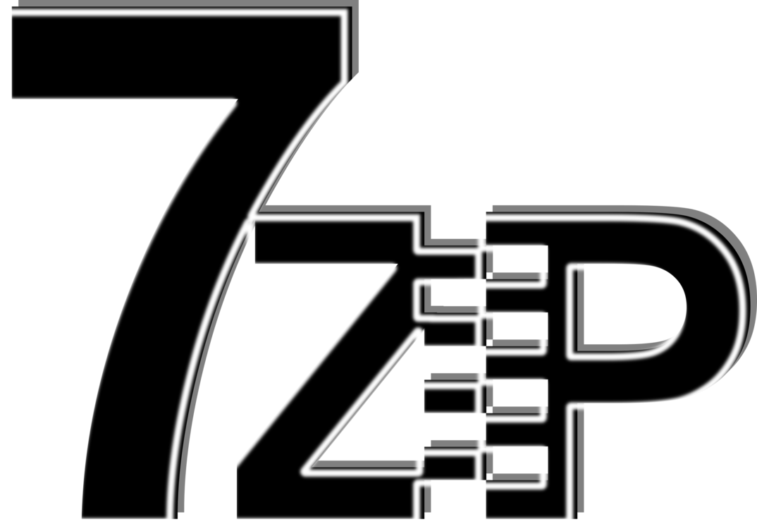Data compression 7-Zip Computer Software CC0 - Angle,Monochrome