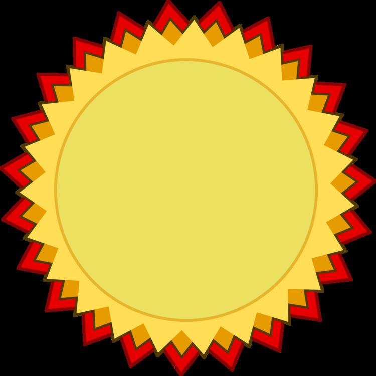 Ribbon Award Gold medal Template CC0 - Area,Yellow,Circle CC0 Free