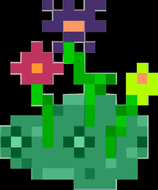 computer icons pixel art flower 8 bit color free commercial clipart