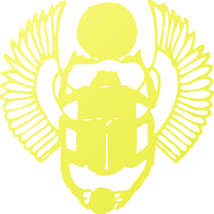 Ancient Egypt Beetle The Golden Scarab Symbol Free Commercial