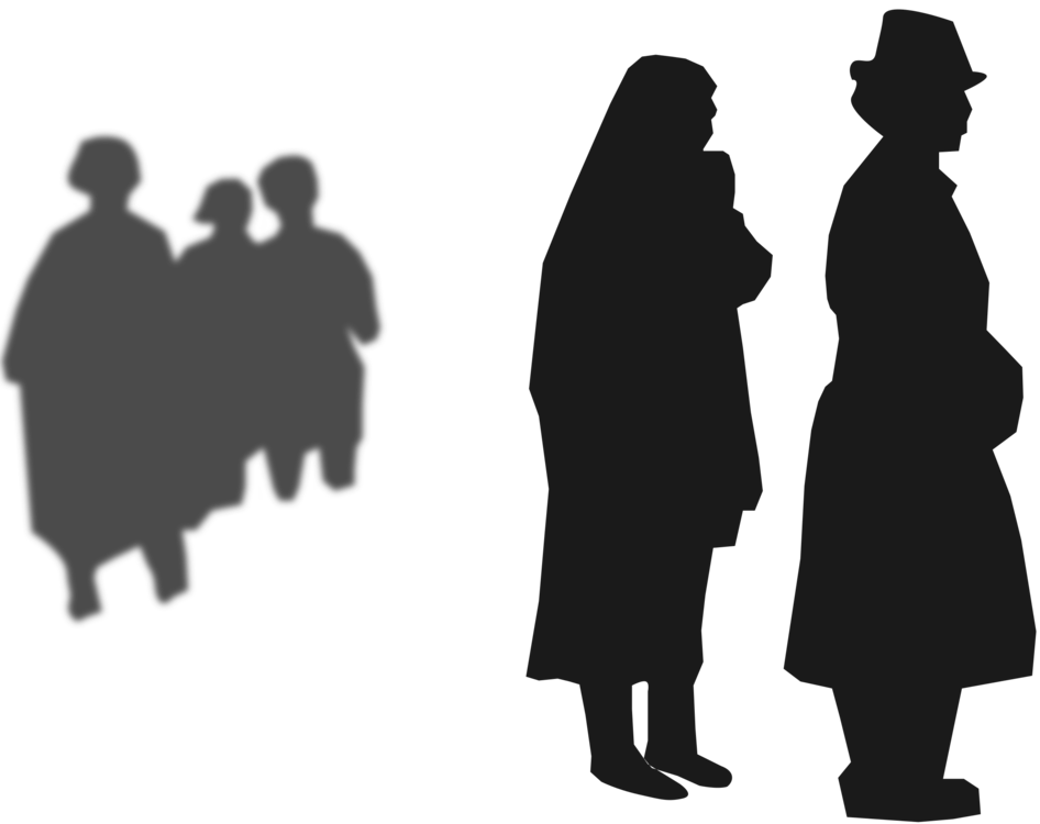 Standing,Human Behavior,Silhouette