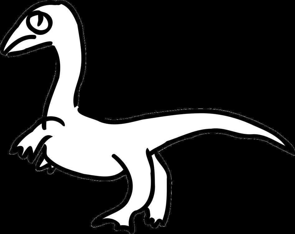 Velociraptor Drawing Dinosaur Duck Diagram Free Commercial Clipart