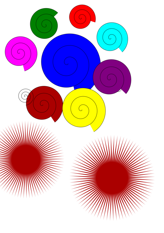 Circle Point Line Spiral