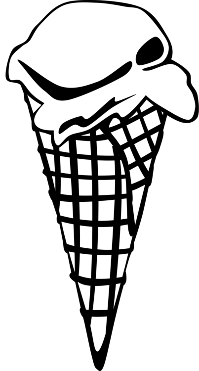 Line Art,Ice Cream Cone,Joint