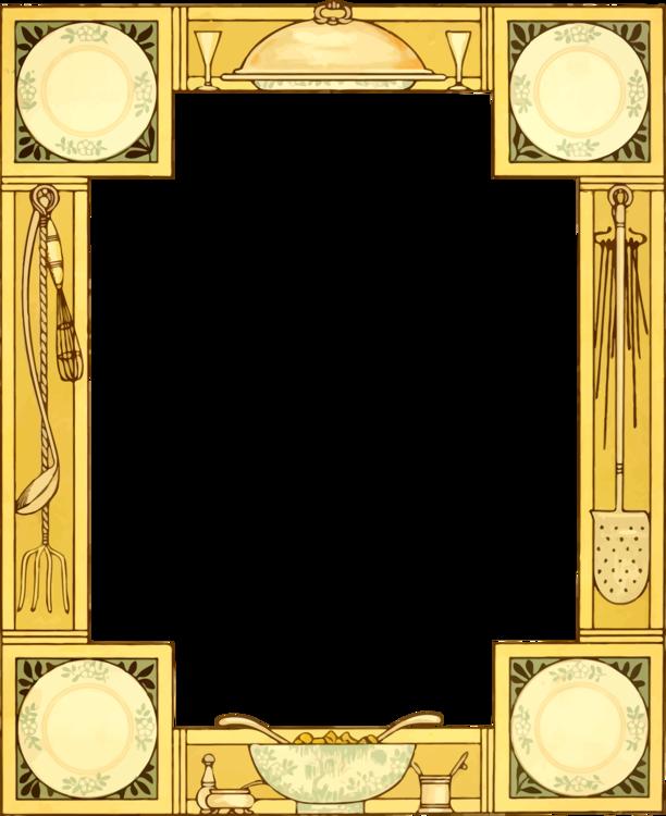 Kitchen Pictures Frames: Picture Frames Kitchen Cartoon Tableware Mirror CC0