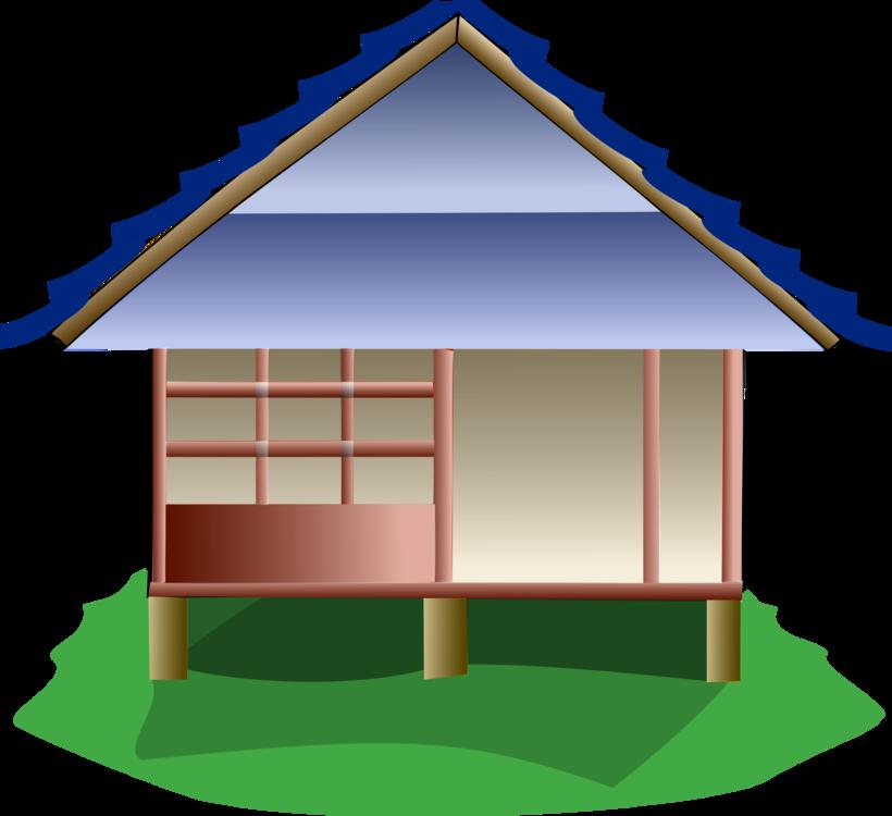 Stilt House Japan Cottage Hut Free Commercial Clipart House Japan