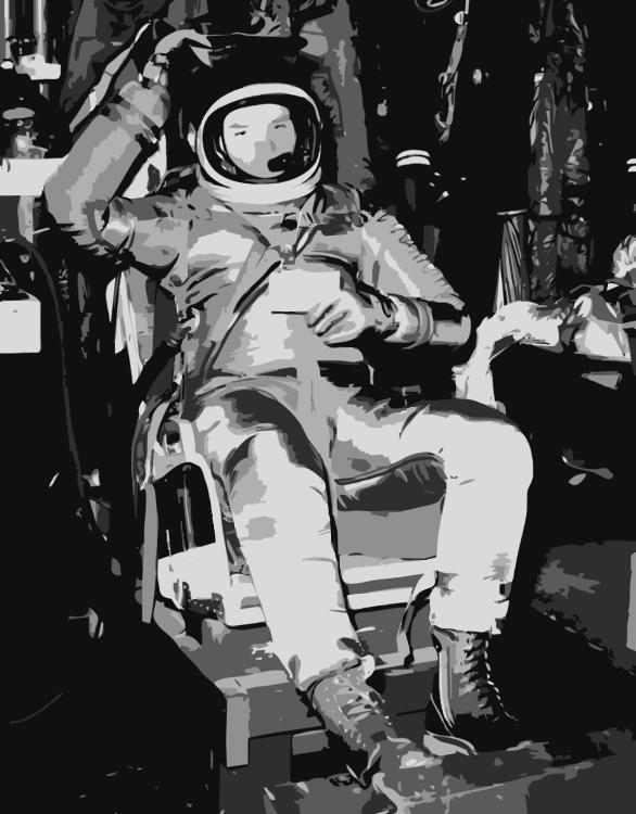 Monochrome Photography,Monochrome,Astronaut
