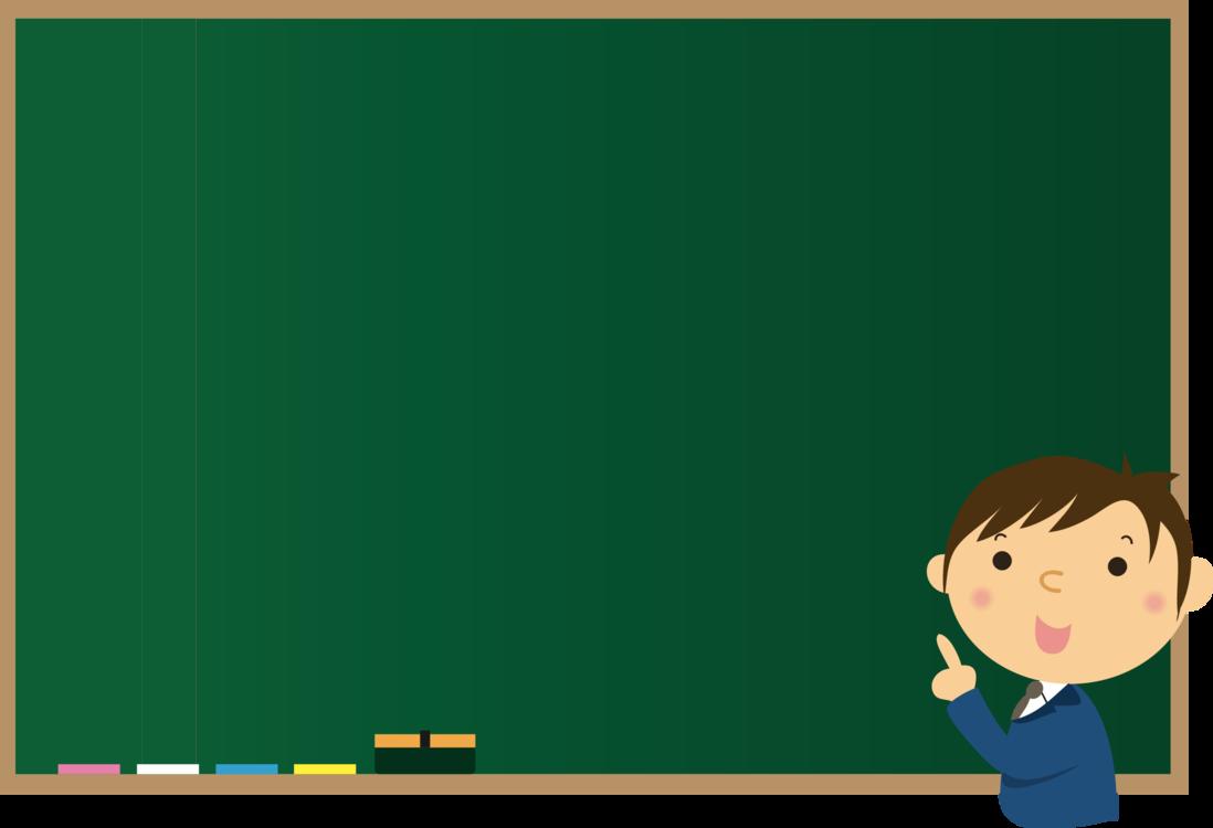 Classroom blackboard. Picture frame human behavior