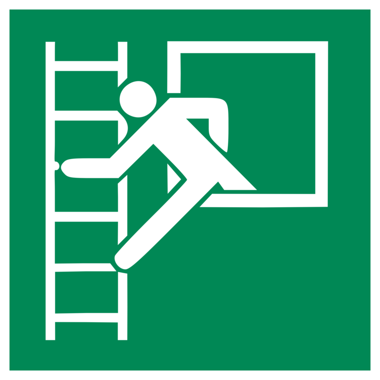 Fire Escape Ladder Iso 7010 Emergency Exit Exit Sign Free
