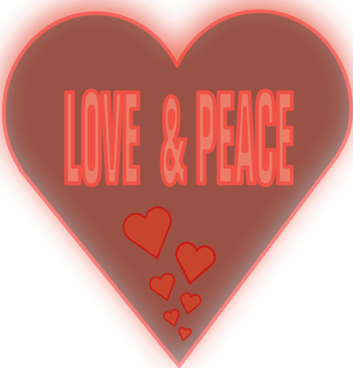 Heart Love Peace Symbol Valentines Day Free Commercial Clipart