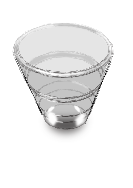 Lead glass Cup Bowl Drawing