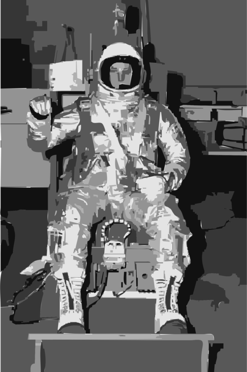 Space,Monochrome Photography,Robot