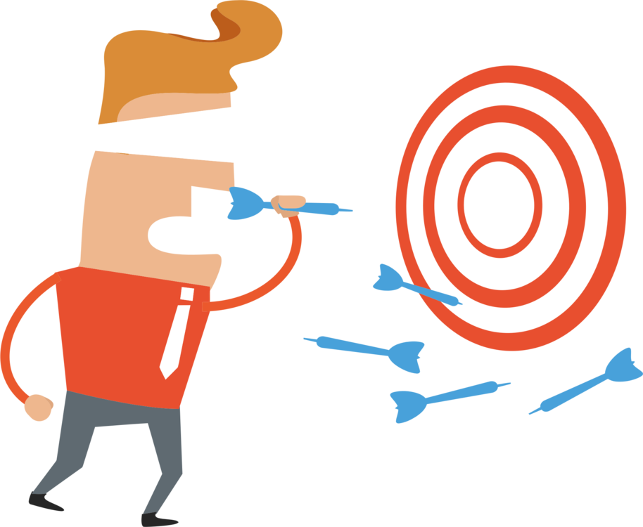 Darts Bullseye Game Player Shooting Target Free Commercial Clipart