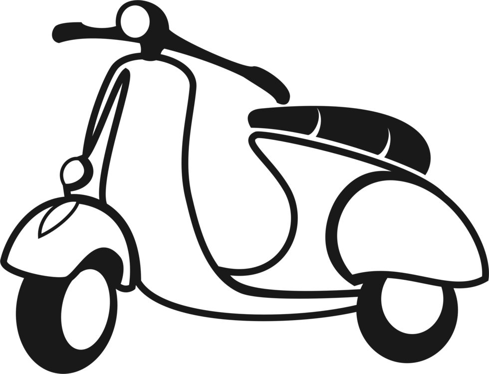 Scooter Vespa Sprint Motorcycle Moped Free Commercial Clipart