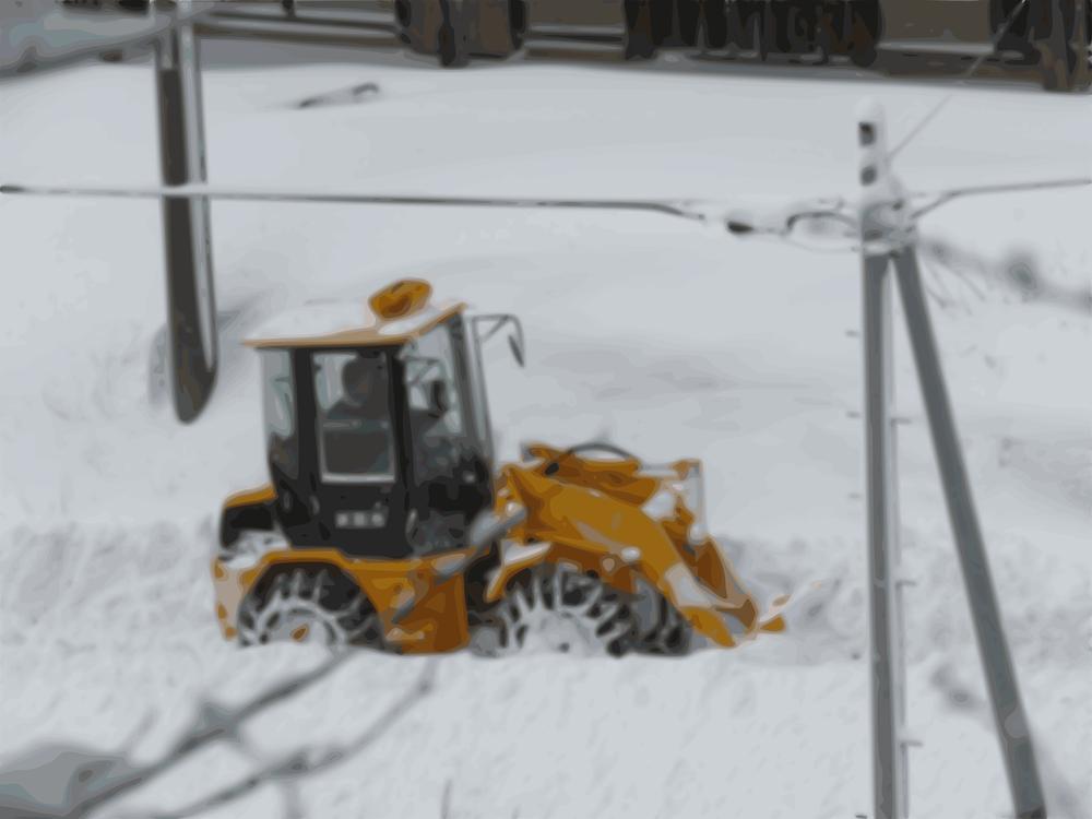 Winter,Blizzard,Snowplow