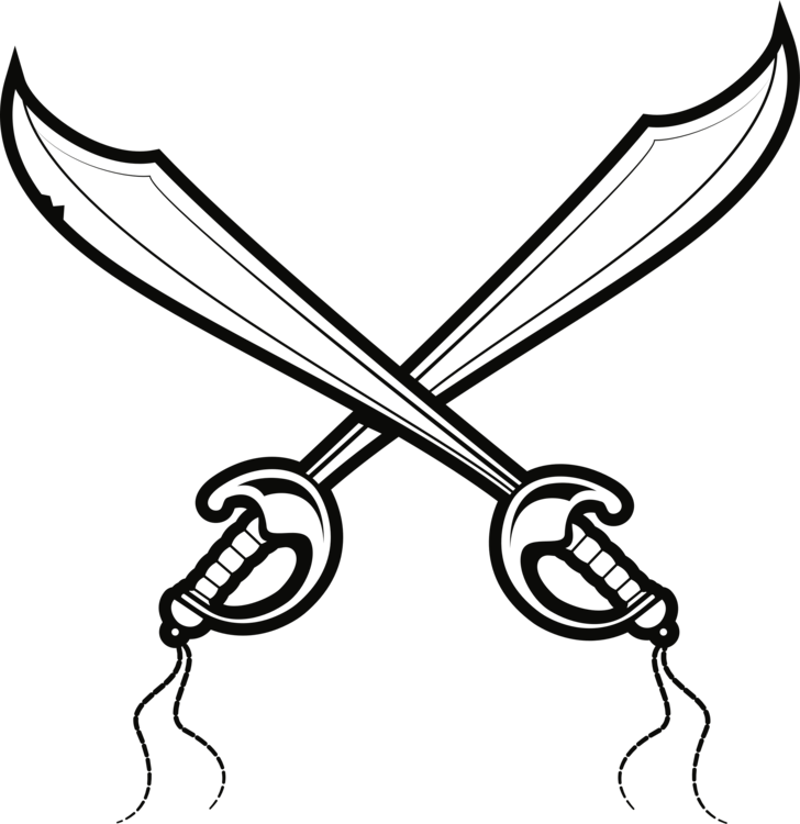 Drawing Cutlass Pirate Sword Sabre Free Commercial Clipart