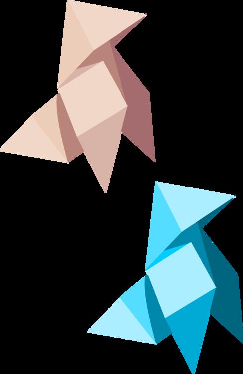 Triangle,Art Paper,Origami