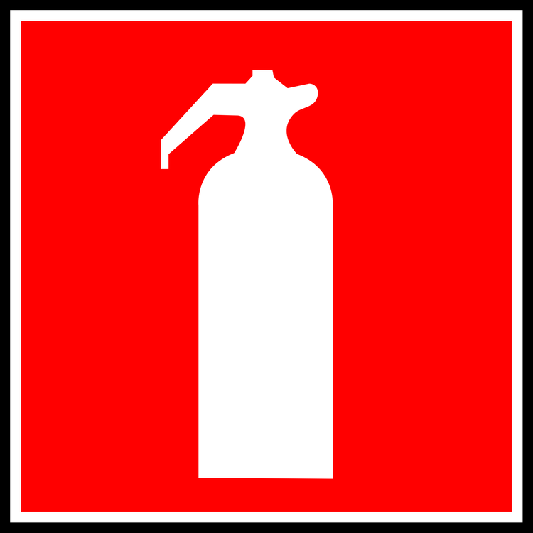 Fire Extinguishers Pictogram Symbol Drawing Free Commercial Clipart