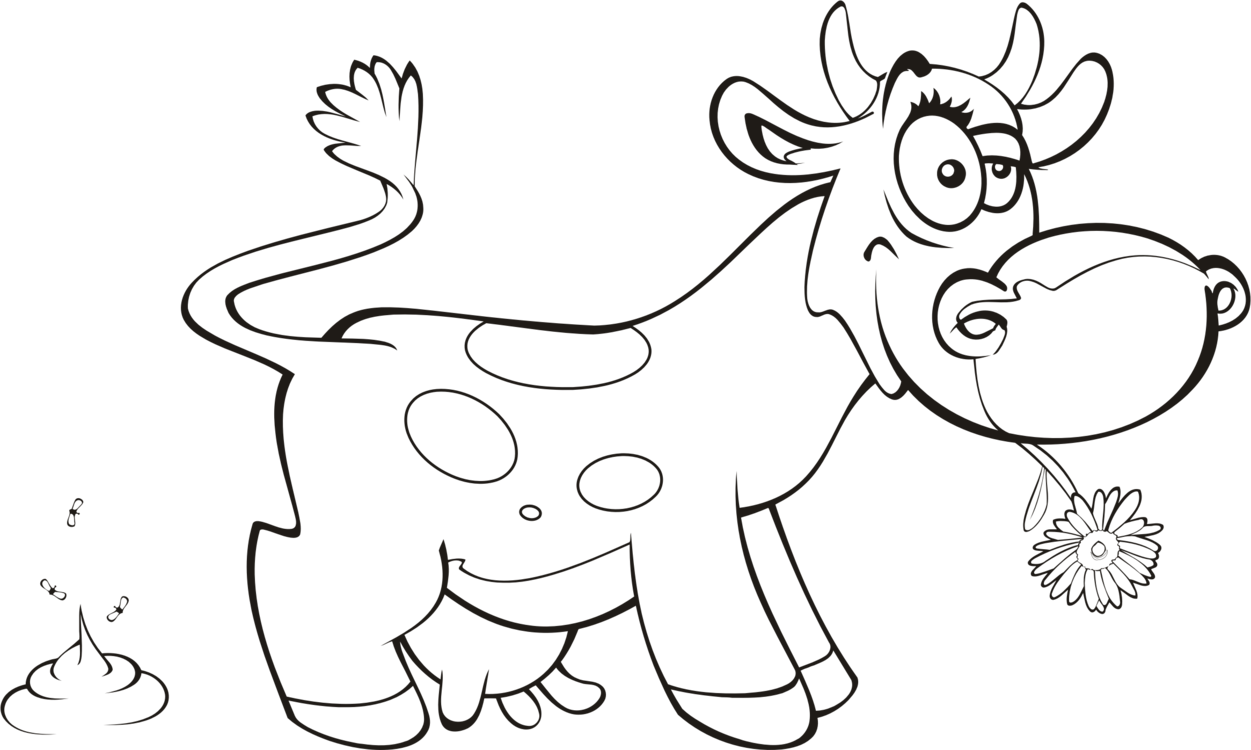Dairy cattle Drawing Calf Coloring book free commercial clipart ...