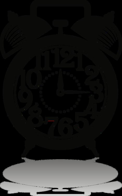 Alarm Clocks Drawing Encapsulated Postscript Silhouette Free